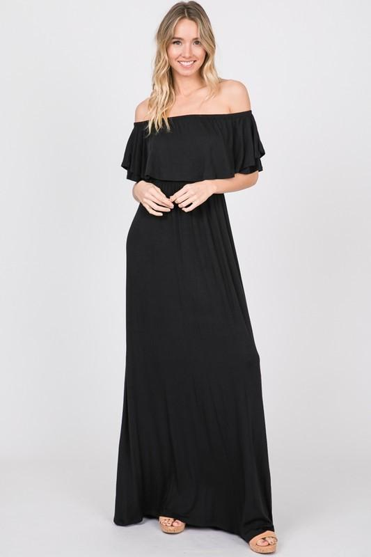 Mine All Mine Maxi Dress: Black - Bella and Bloom Boutique