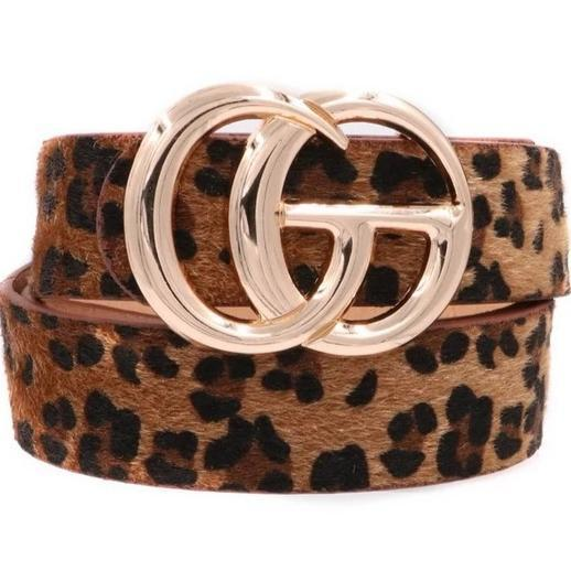 RESTOCK: Label Lover Belt: Brown Leopard - Bella and Bloom Boutique