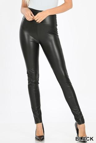 Take the Edge Off Leather Leggings: Black