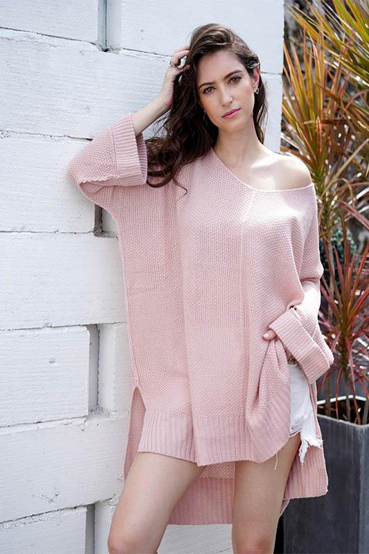 So Cozy Sweater: Light Pink - Bella and Bloom Boutique