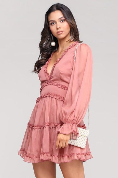 RESTOCK: Just a Dream Dress: Mauve - Bella and Bloom Boutique