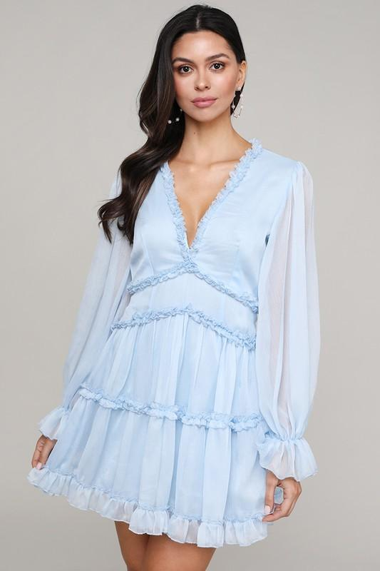 Just a Dream Dress: Powder Blue - Bella and Bloom Boutique