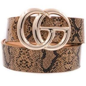RESTOCK: Label Lover Belt: Brown Python - Bella and Bloom Boutique