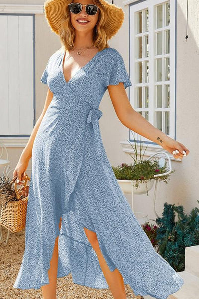 Sweet Days Midi Dress: Light Blue - Bella and Bloom Boutique