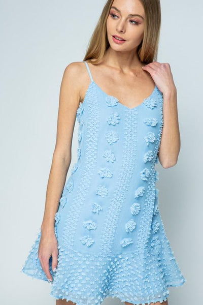 Alayah Dress: Light Blue - Bella and Bloom Boutique