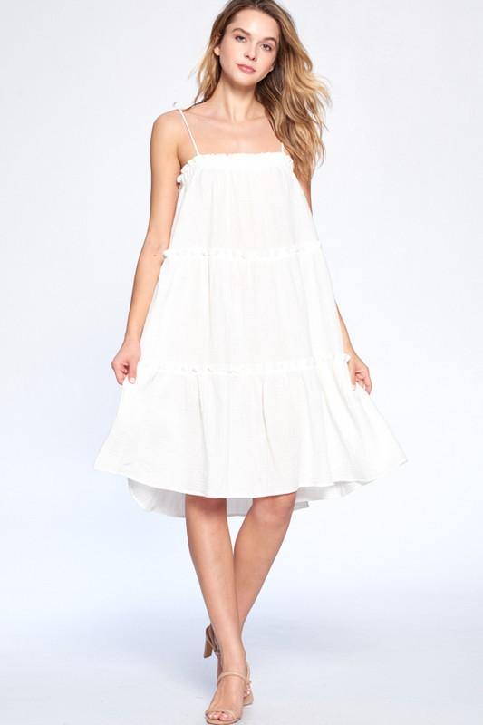 Summer Kiss Dress: Ivory - Bella and Bloom Boutique