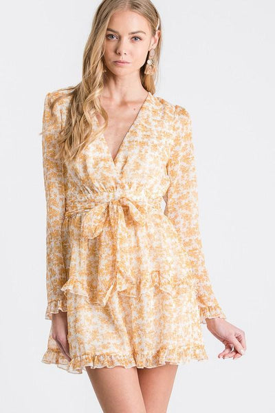 Dandelion Kiss Dress: Yellow Multi - Bella and Bloom Boutique