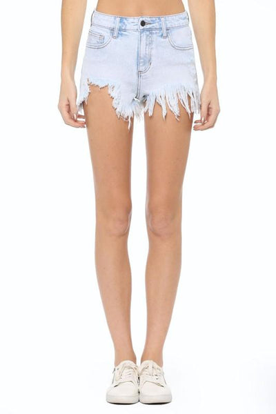 PRE-ORDER: Bright Days Ahead Denim Shorts: Light Wash - Bella and Bloom Boutique