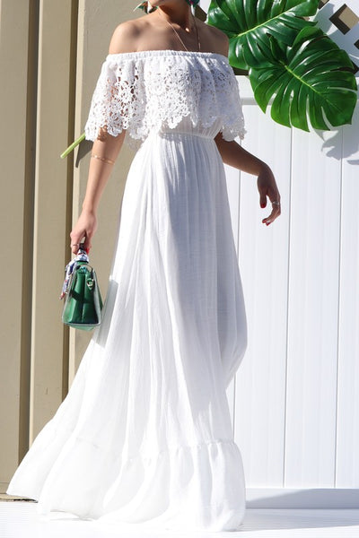 RESTOCK: Take My Breath Away Maxi: White - Bella and Bloom Boutique