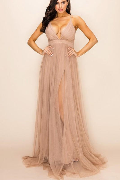 Forever Love Maxi Dress: Taupe - Bella and Bloom Boutique