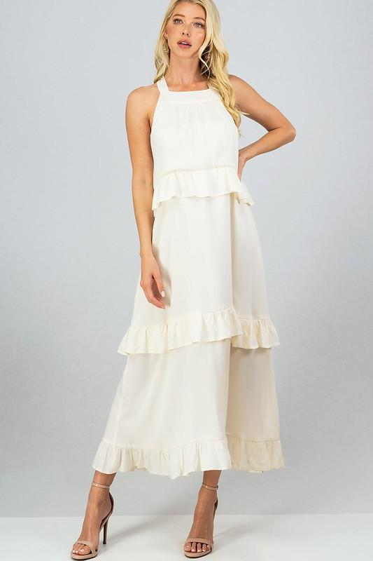 Like a Melody Maxi Dress: Ivory - Bella and Bloom Boutique