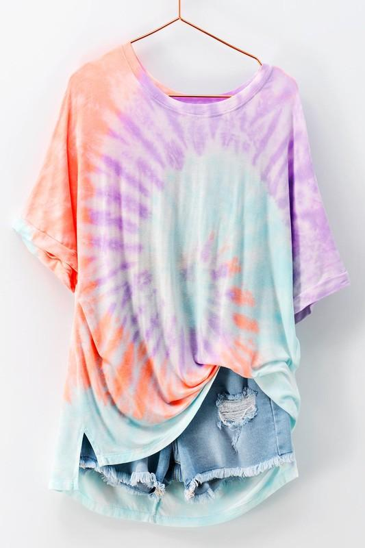 RESTOCK: Tie Dye Dreams Top: Lavender Multi - Bella and Bloom Boutique