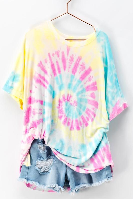 RESTOCK: Tie Dye Dreams Top: Pink Multi - Bella and Bloom Boutique