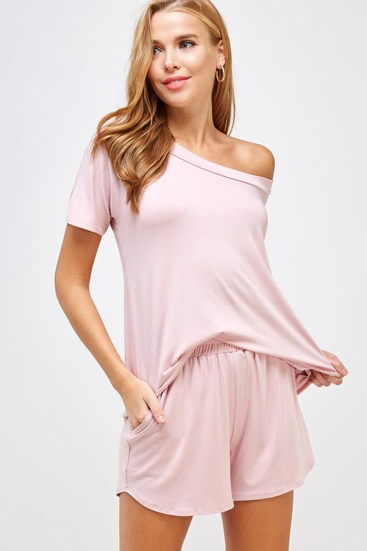 Loungewear Lovin' Two Piece Set: Light Pink - Bella and Bloom Boutique
