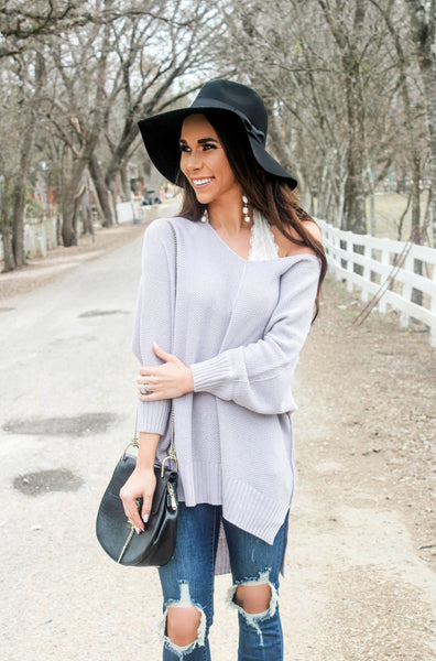 RESTOCK: All Too Well Sweater: Light Gray