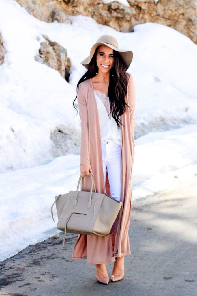 RESTOCK: State of Grace Duster: Light Tan