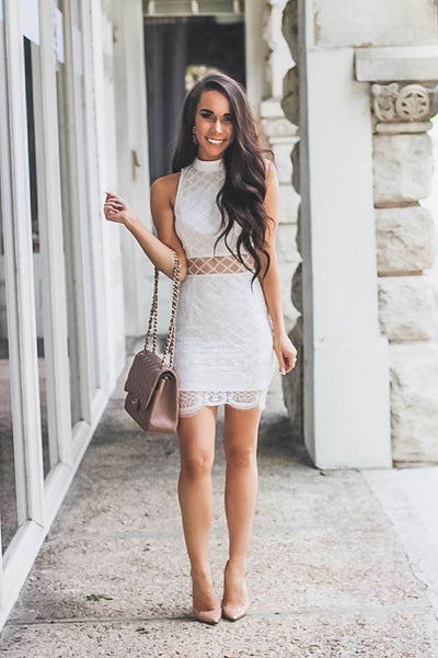 Bachelorette Babe Dress: White