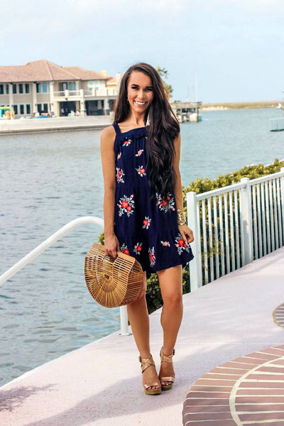 Sweet Summertime Dress: Navy