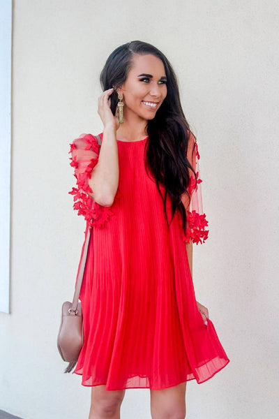 Love Out Loud Dress: Red