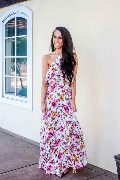 Life in Color Maxi Dress: Pink Multi