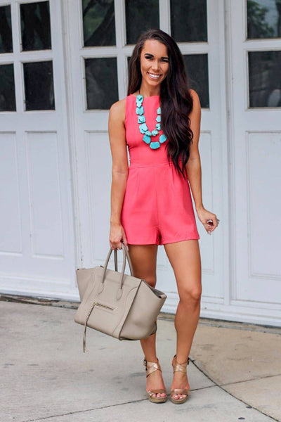 Why Georgia Romper: Coral