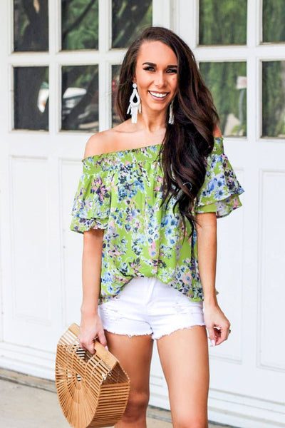 RESTOCK: Summer Nights Top: Lime