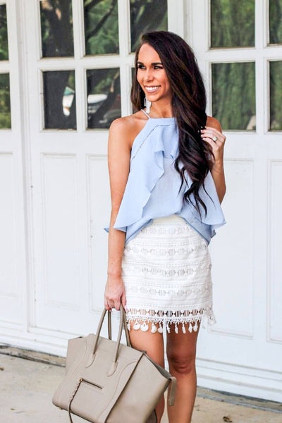 A Perfectly Good Heart Skirt: White