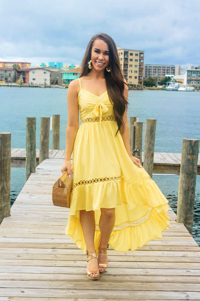 Summer Romance Dress: Yellow - Bella and Bloom Boutique