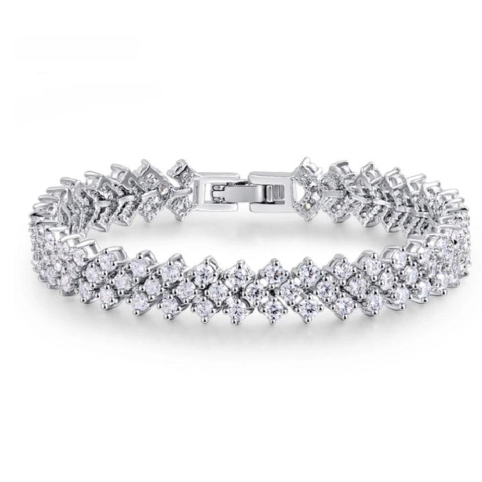 RESTOCK: Take My Hand Bracelet: Crystal/Silver - Bella and Bloom Boutique