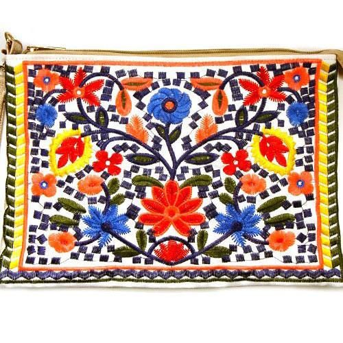 Beach Paradise Clutch: Multi - Bella and Bloom Boutique