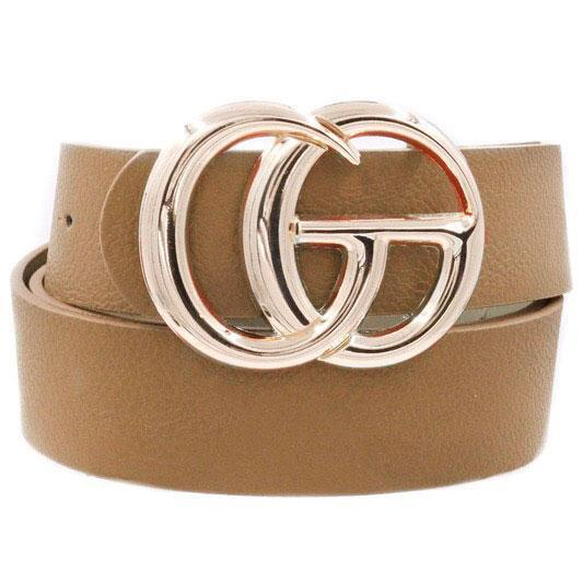 RESTOCK: Label Lover Belt: Taupe - Bella and Bloom Boutique