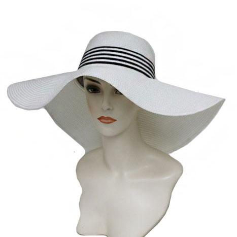 Yacht Girl Hat: White/Navy - Bella and Bloom Boutique