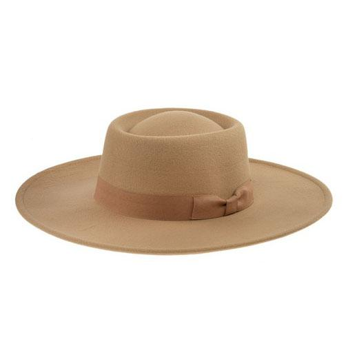 Lorena Felt Hat: Camel - Bella and Bloom Boutique