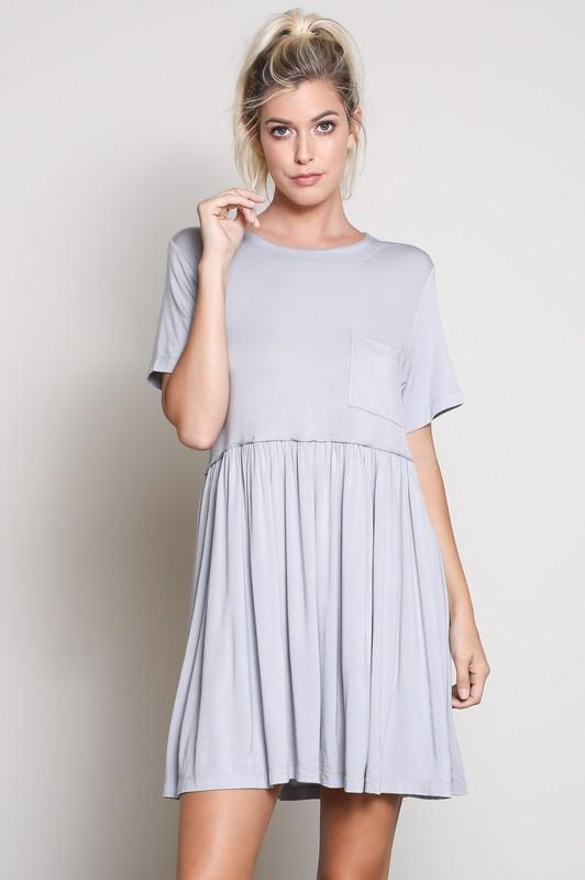 RESTOCK: Casual Days Dress: Dove Gray - Bella and Bloom Boutique