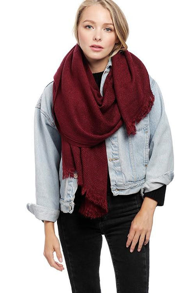Classic Scarf: Burgundy - Bella and Bloom Boutique
