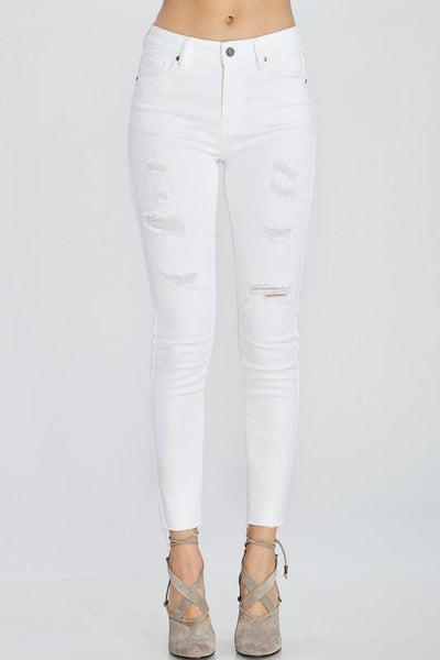 Never Gonna Let You Go Denim: White