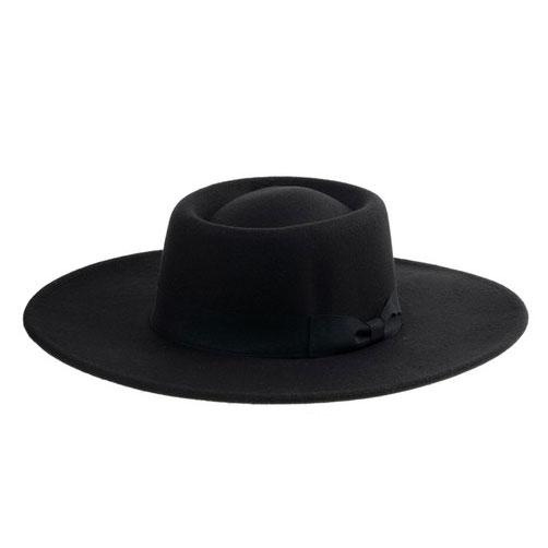 Lorena Felt Hat: Black - Bella and Bloom Boutique