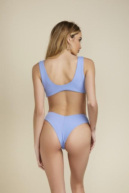 Summer Vibes Bikini Bottoms: Periwinkle - Bella and Bloom Boutique
