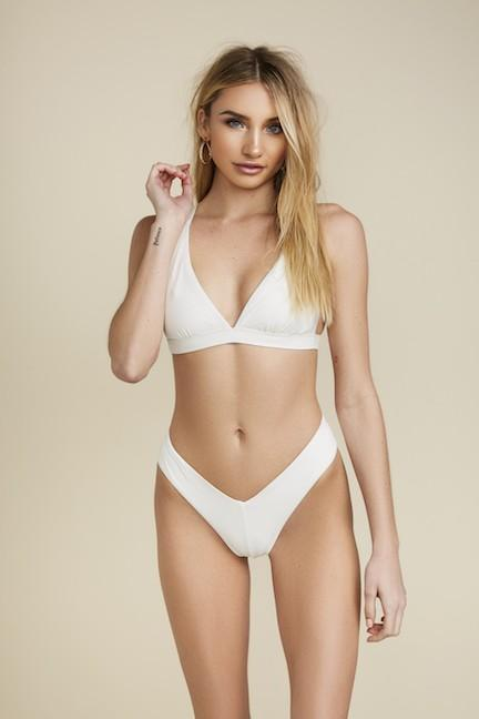 Summer Vibes Bikini Bottoms: Ivory - Bella and Bloom Boutique