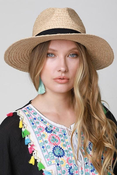 Beach Hat: Natural - Bella and Bloom Boutique