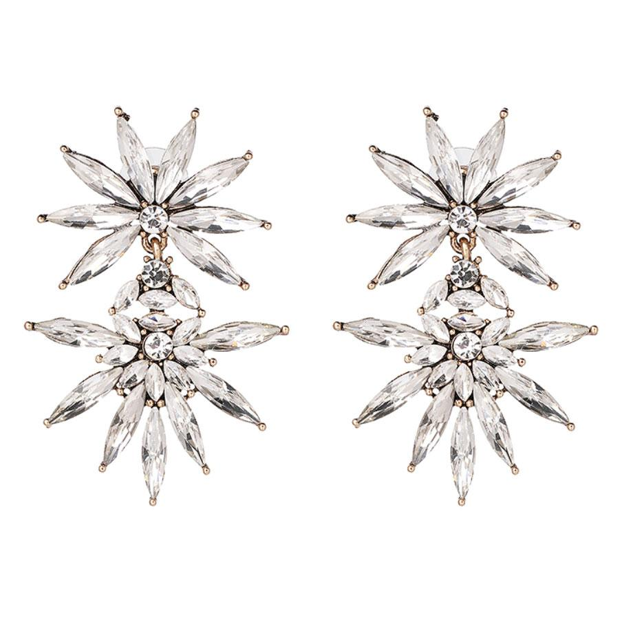 I Choose You Earrings: Crystal - Bella and Bloom Boutique