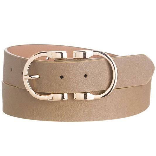 RESTOCK: New York Chic Belt: Taupe - Bella and Bloom Boutique