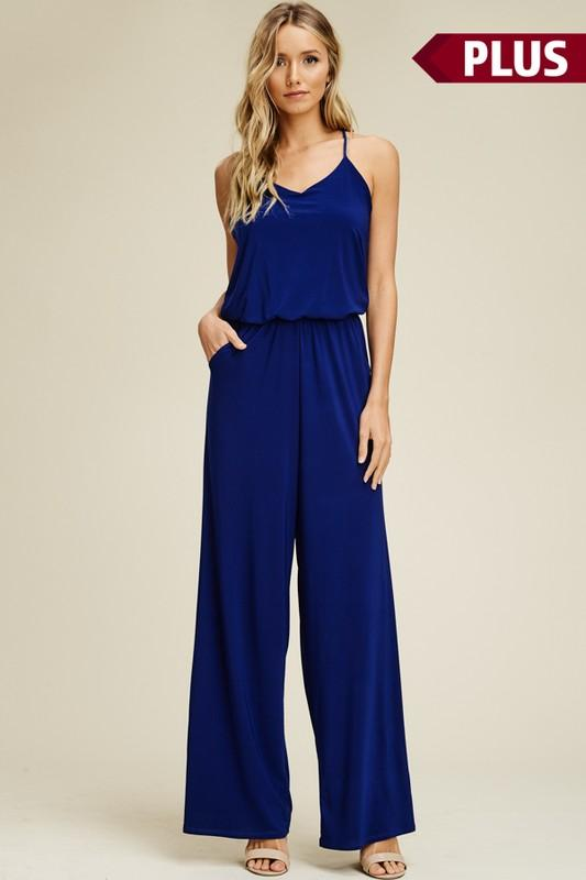 Every Day Jumpsuit: Royal Blue - Bella and Bloom Boutique