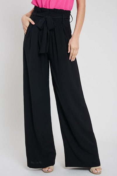 Classic Wide Leg Pants: Black - Bella and Bloom Boutique