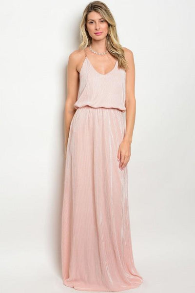 Sweet Remedy Maxi Dress: Blush - Bella and Bloom Boutique
