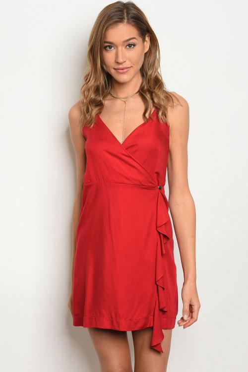 Love Affair Dress: Red - Bella and Bloom Boutique