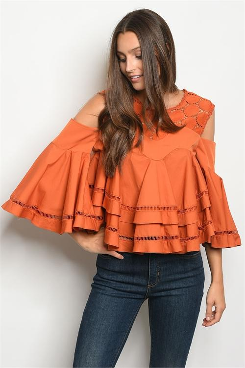 Maggie Top: Amber - Bella and Bloom Boutique