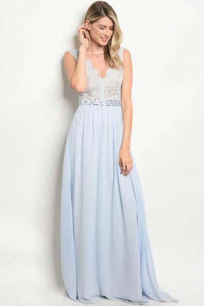 Sweet Romance Maxi Dress: Periwinkle - Bella and Bloom Boutique