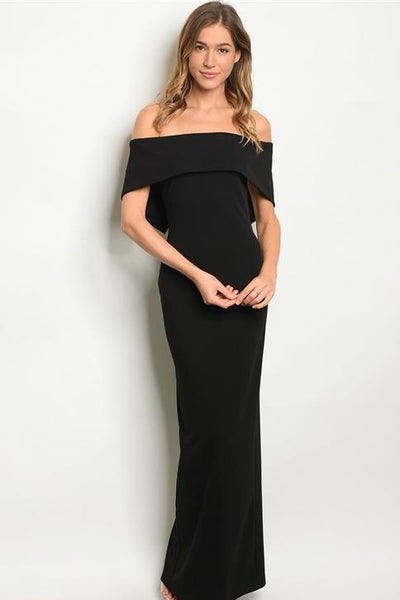 Sophisticated Chic Maxi Dress: Black - Bella and Bloom Boutique