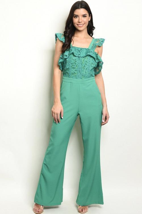 Got Me Jaded Jumpsuit: Jade - Bella and Bloom Boutique